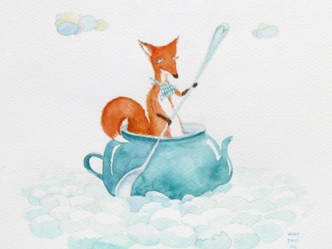 Fox in a  teapot
